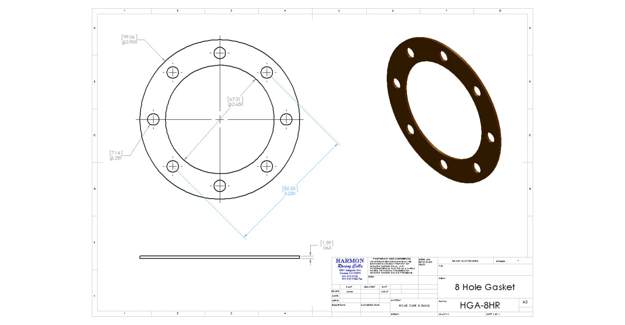 8 hole gasket and bolt kit